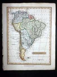 Clarke C1820 Hand Col Map. South America